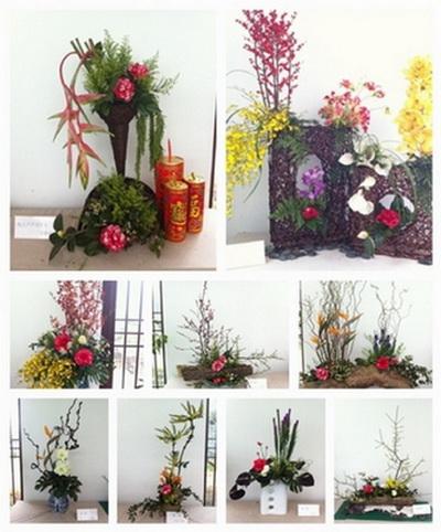 2013迎春茶花展之茶花插花作品展示将延至元宵节后
